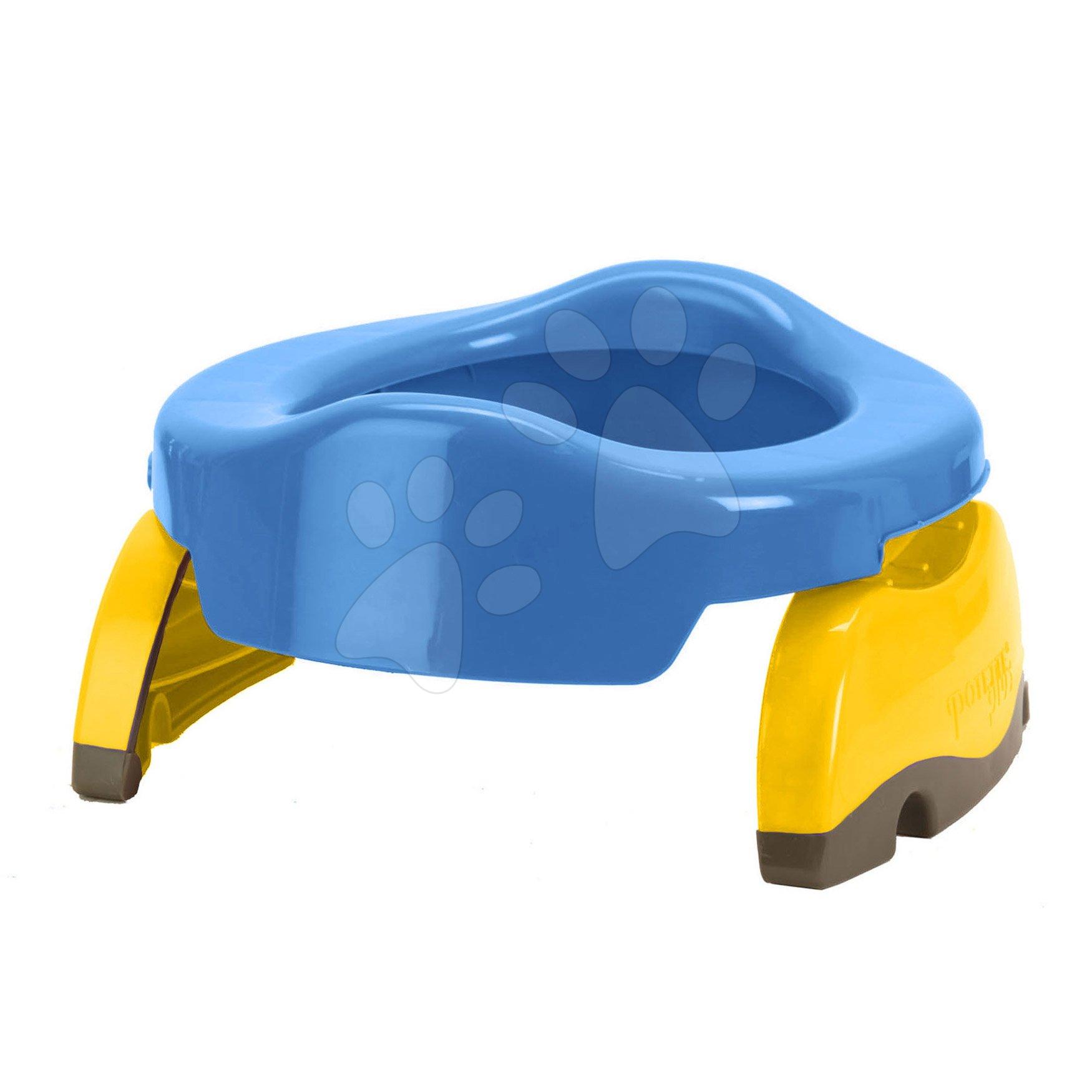 Cestovní nočník/redukce na WC Potette Plus modro-žlutý od 15 měsíců