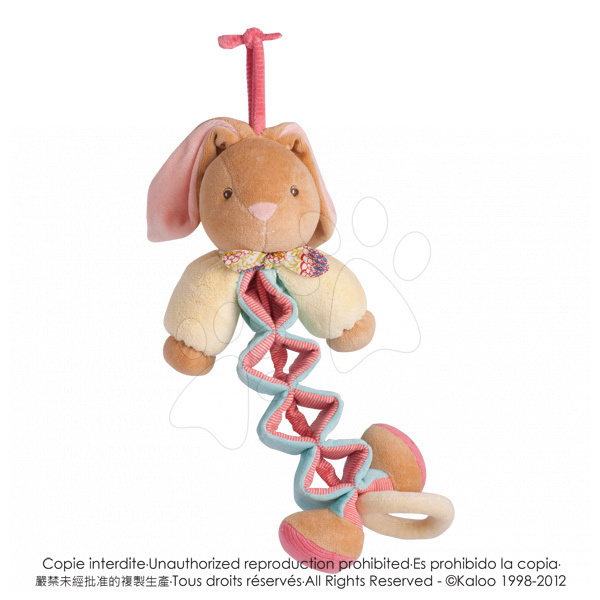 Hračky nad postieľku - Plyšový zajačik Bliss-Zig Kaloo spievajúci naťahovací 25-40 cm v darčekovom balení pre najmenších