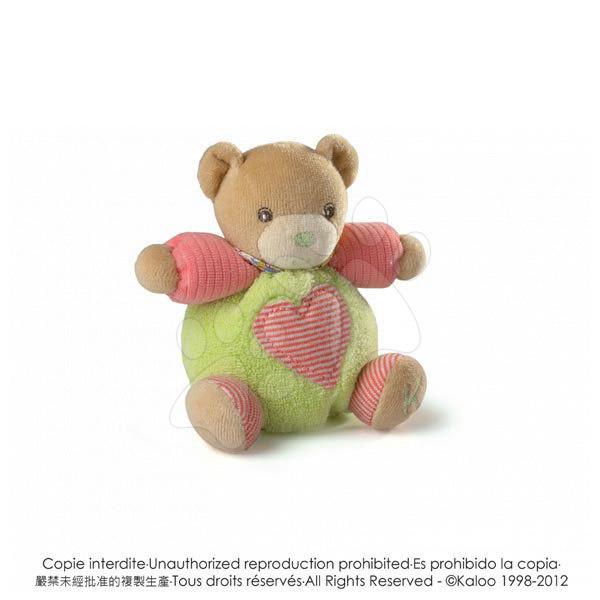 Plyšové medvede - Plyšový medvedík Bliss-Mini Chubbies Kaloo 12 cm pre najmenších zelený