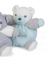 Plyšové medvede - Plyšový medvedík Zen-Mini Chubbies Kaloo 12 cm pre najmenších svetlomodrý