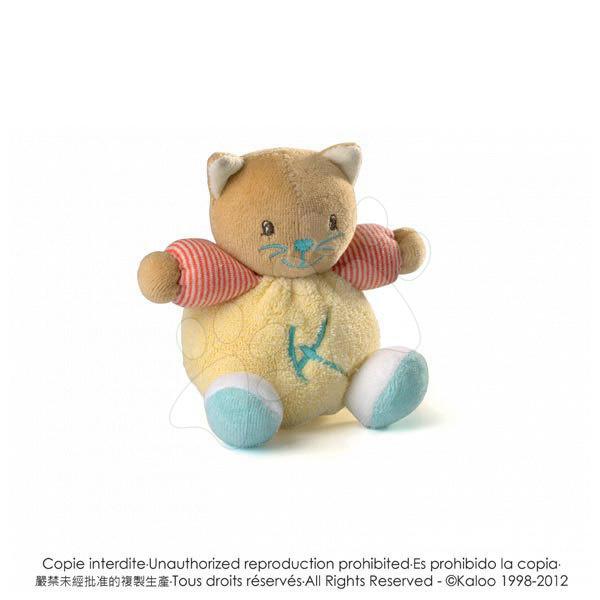 Plyšová kočička Bliss-Mini Chubbies Kaloo 12 cm pro nejmenší žlutá