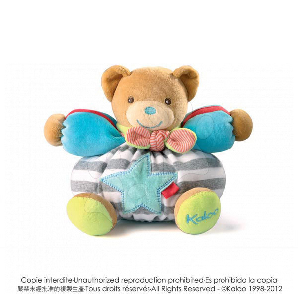 Plyšový medvídek Bliss-Chubby Bear Kaloo 18 cm v dárkovém balení pro nejmenší proužkovaný