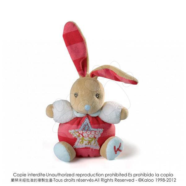 Plyšové zajace - Plyšový zajačik Bliss-Mini Chubbies Kaloo 12 cm pre najmenších červený