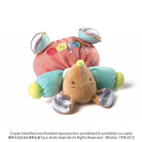Plyšové zvieratká - Plyšová myška Bliss-Chubby Mouse Kaloo s hrkálkou 18 cm v darčekovom balení pre najmenších