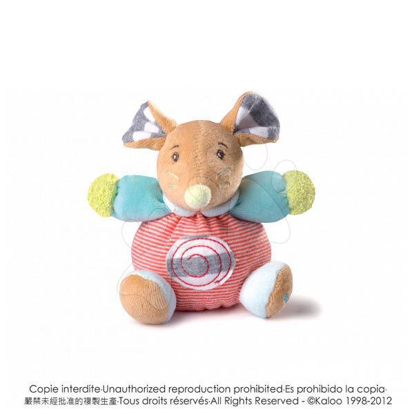 Plyšová myška Bliss-Mini Chubbies Kaloo 12 cm pro nejmenší proužková