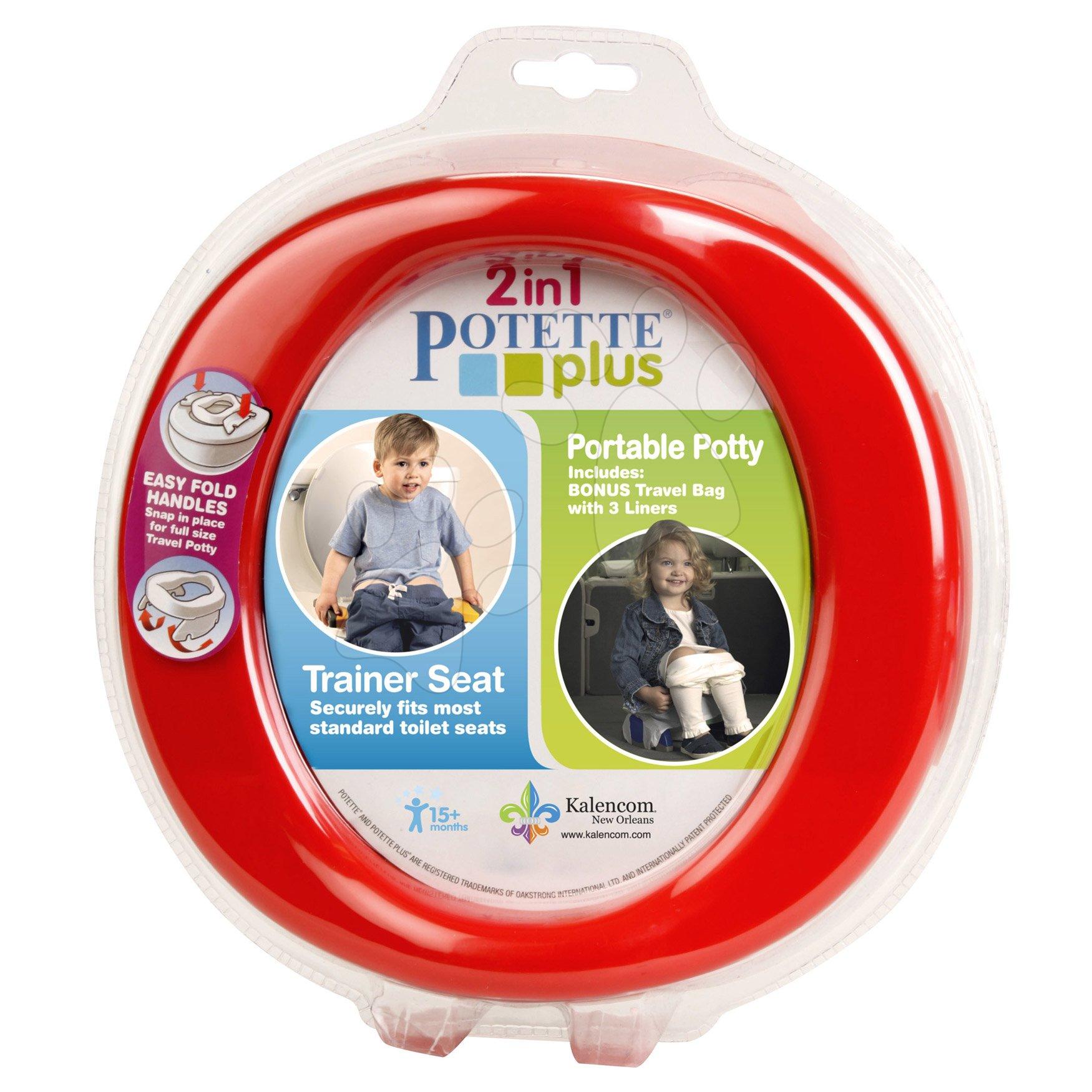 Cestovný nočník/redukcia na WC Potette Plus červeno-modrý od 15 mesiacov
