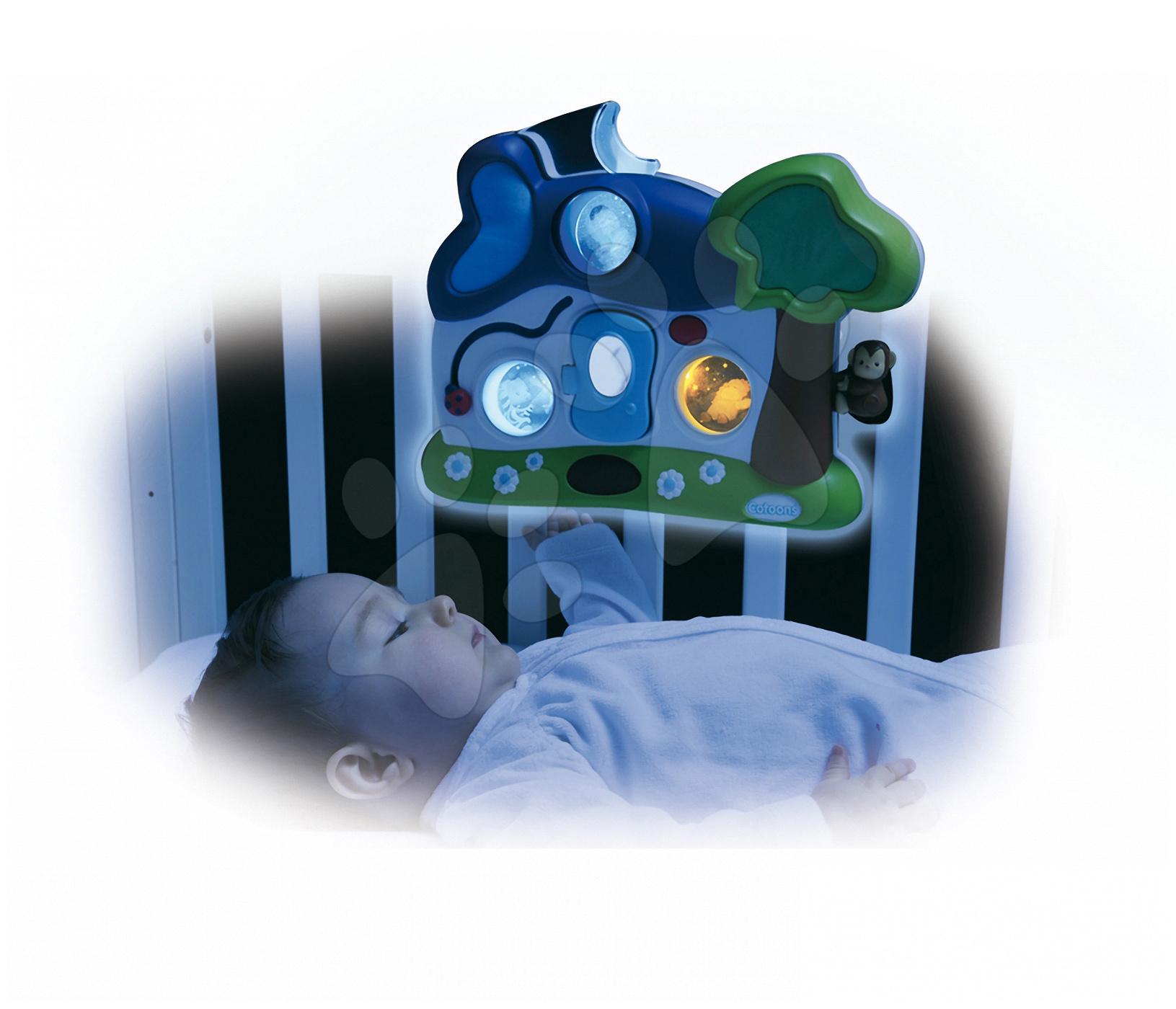 Svietiaci domček Cotoons Night'n'Day Smoby pre kojencov farebný