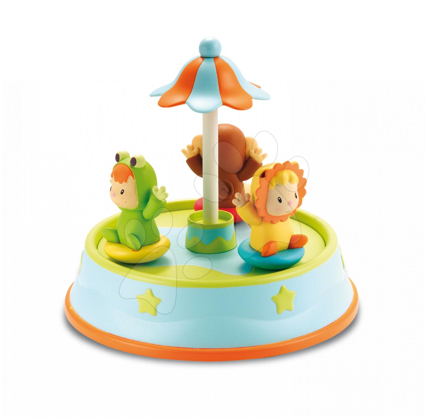 Vrtiljak Cotoons Merry Smoby s plešočimi figuricami in melodijami od 12 mes