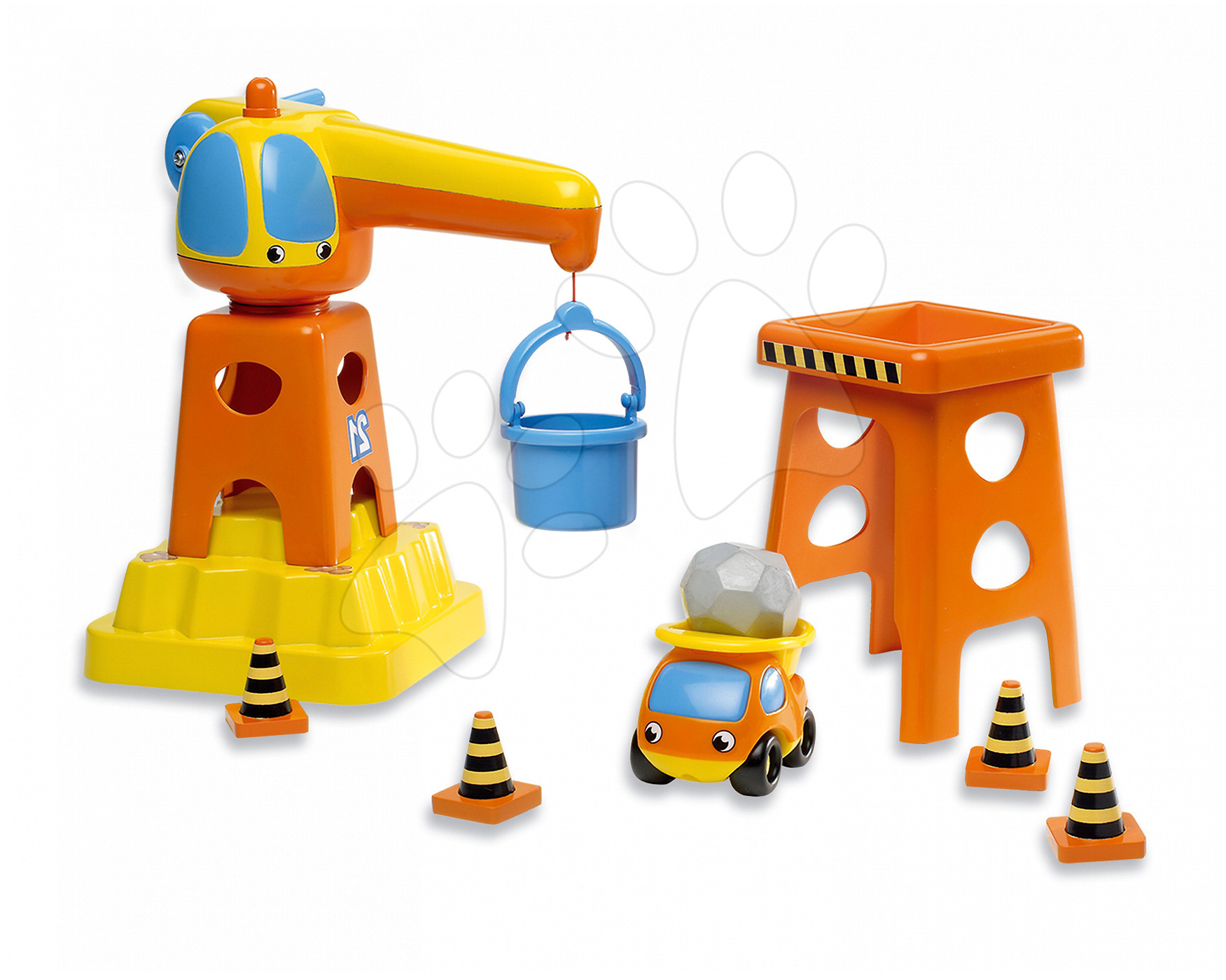 Utilaje construcție de jucărie - Set de construcție Vroom Planet Smoby de dimensiune medie de la 12 luni