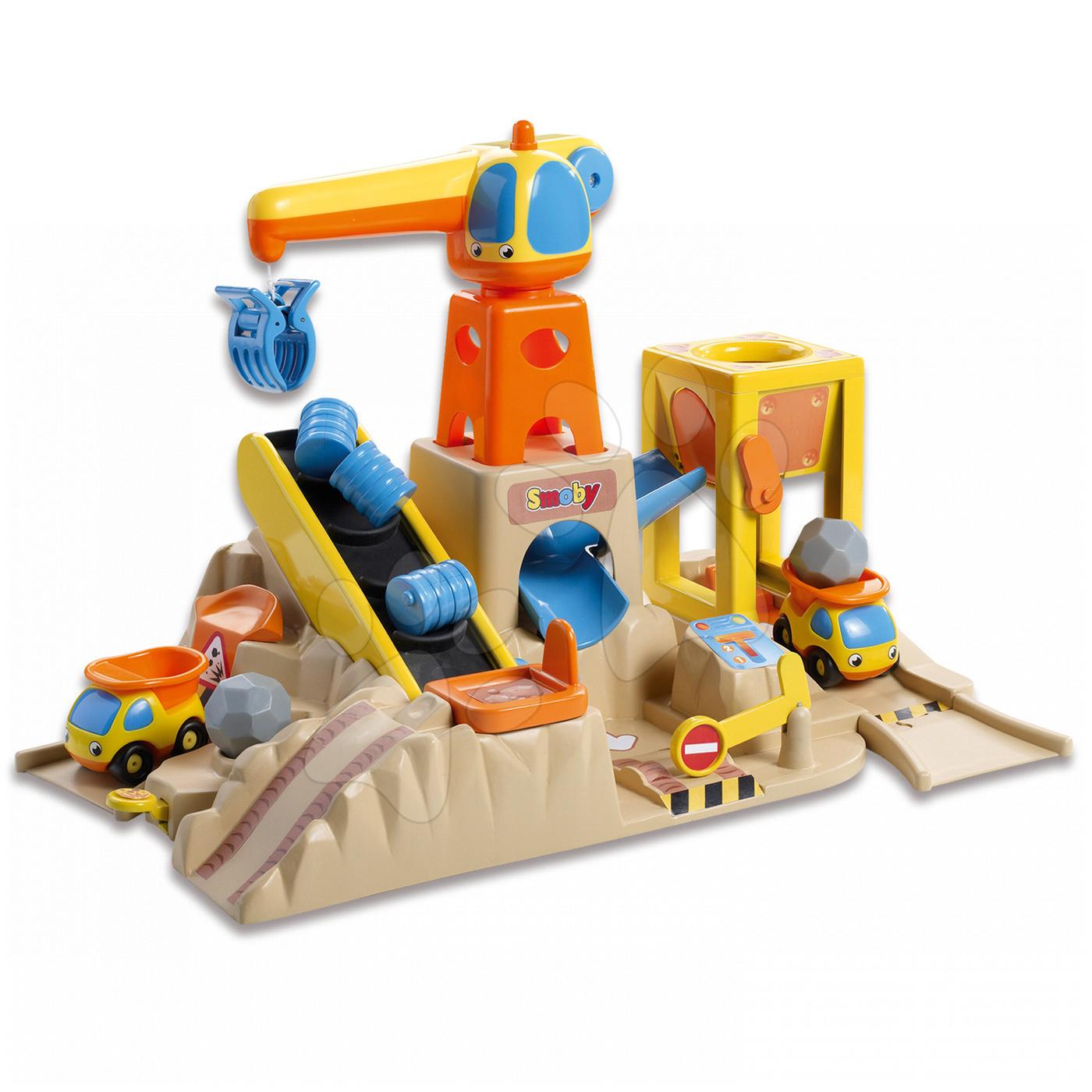 Stavební stroje - Stavební set Vroom Planet Smoby velký od 18 měsíců