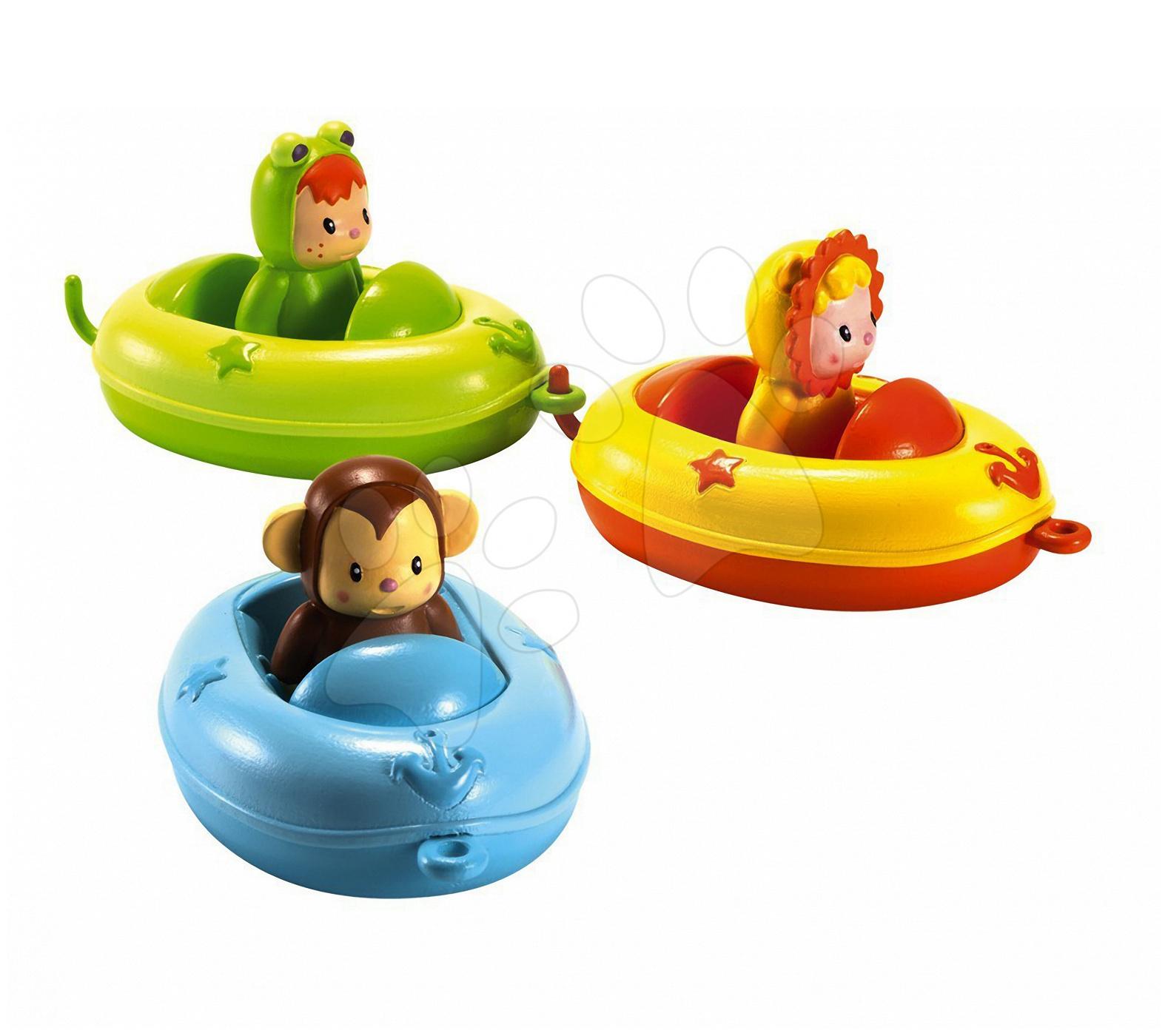 Jucării de apă - Bărcuţe pentru vană Baby Cotoons Smoby 3 bucăţi de la 12 luni