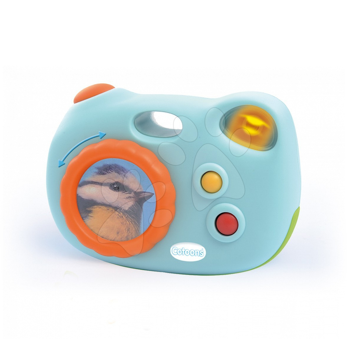 Aparat de fotografiat albastru-deschis Cotoons Smoby cu sunet pentru bebeluși