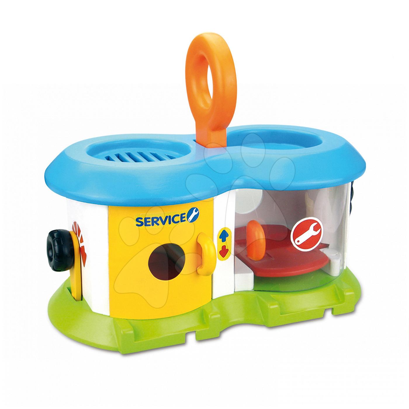 Garaj de jucărie Vroom Planet Smoby cu maşinuţă de la 12 luni