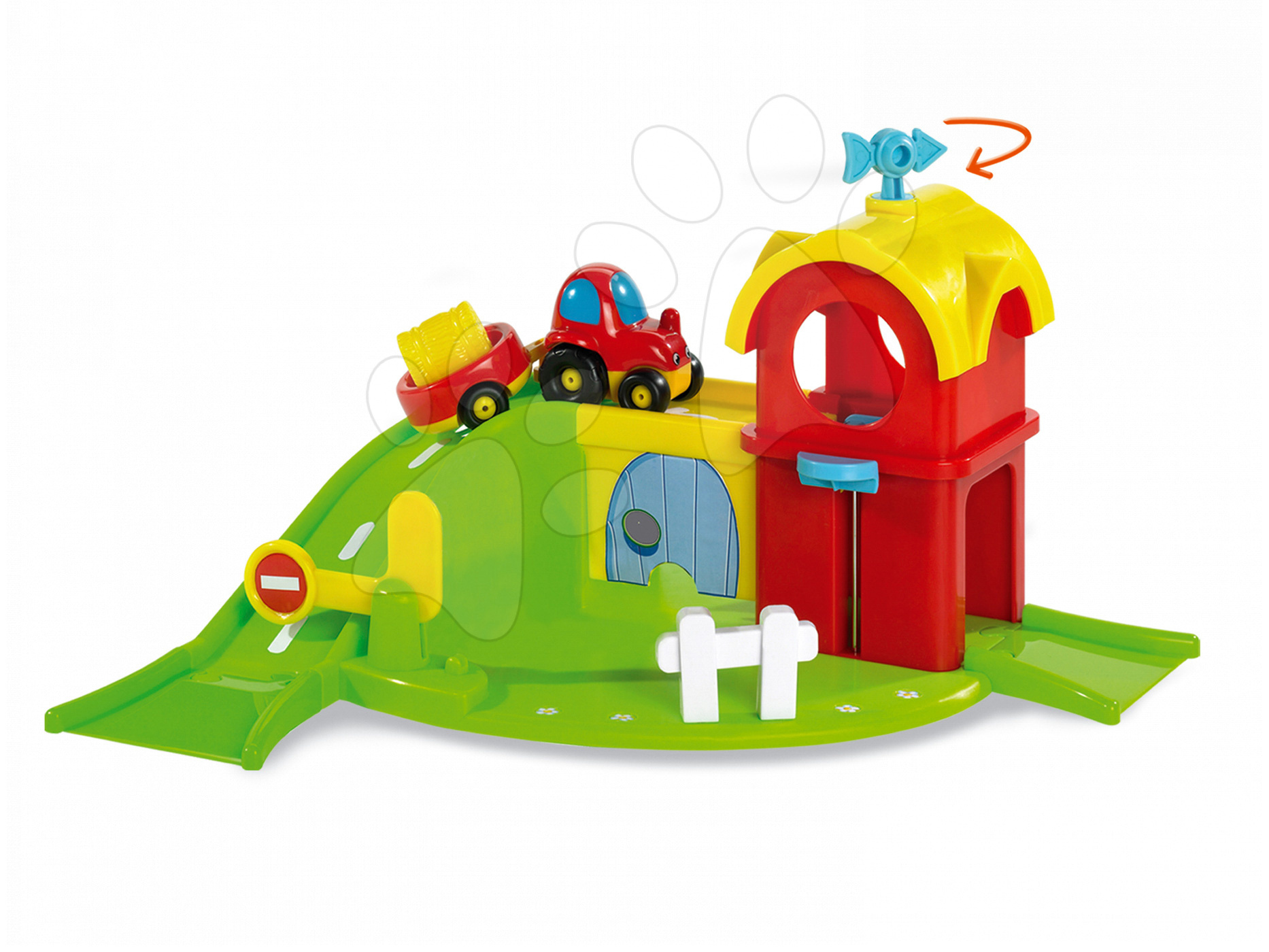 Smoby mechanická farma a autíčko pre deti Vroom Planet 211101