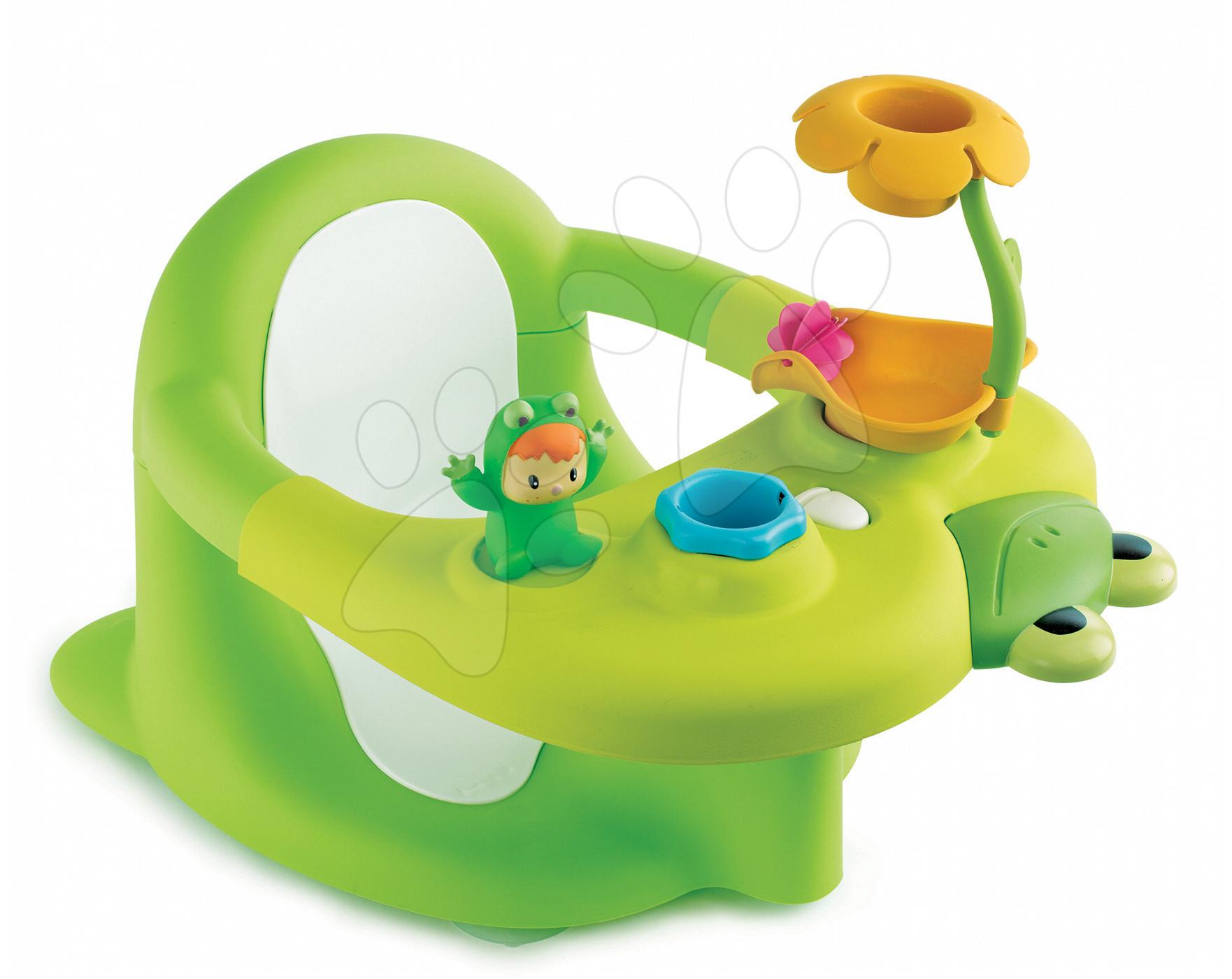 Sedátko Žába do vody Cotoons Smoby zelené od 6 měsíců