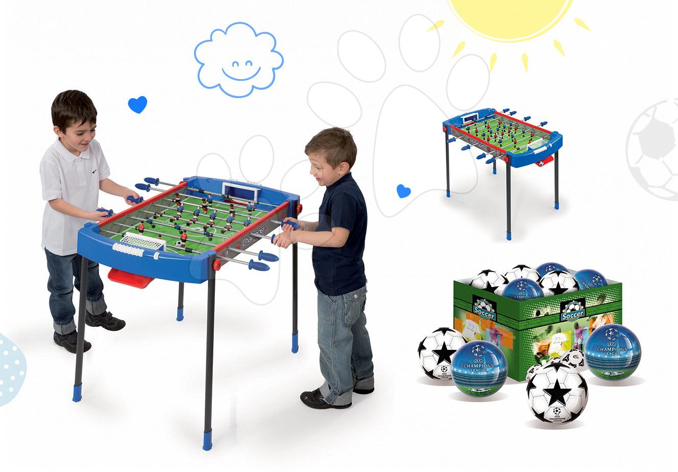 Set futbalový stôl Challenger Smoby a futbalová lopta od 6 rokov