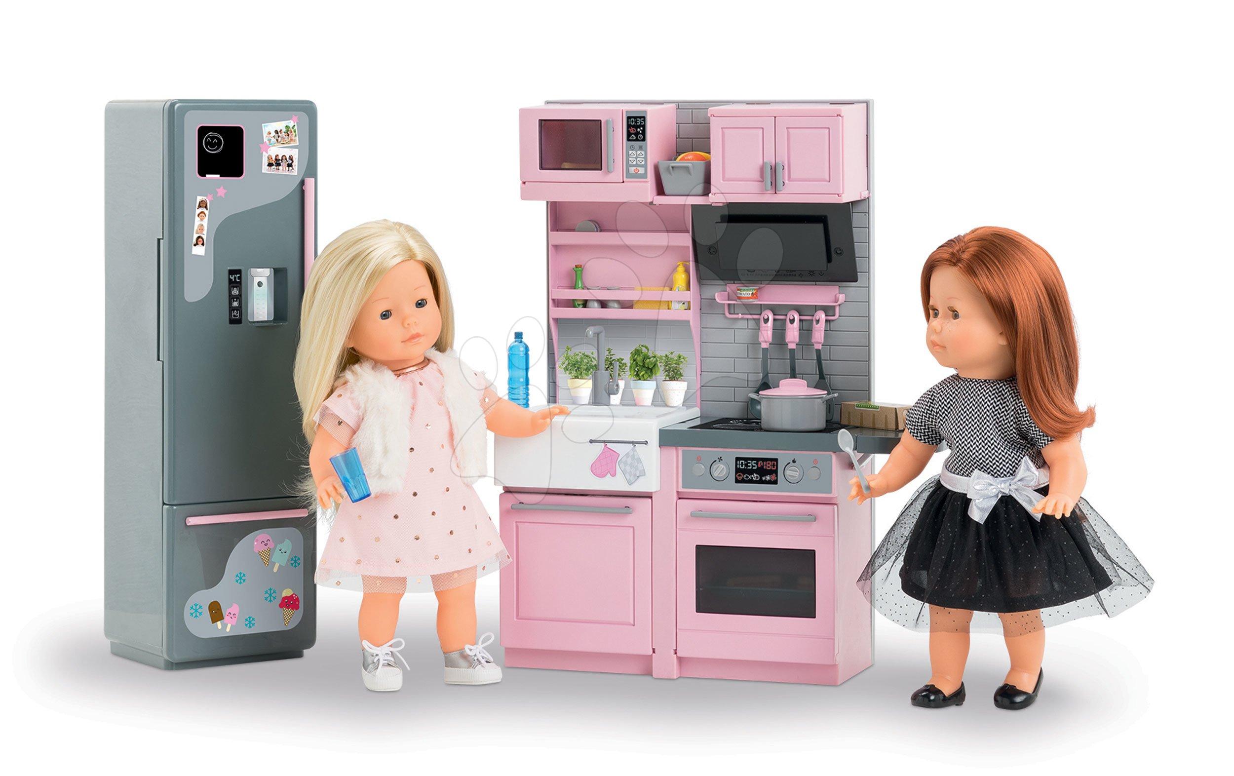 Elektronická kuchyňka s ledničkou Ma Corolle pro 36 cm panenku od 4 let