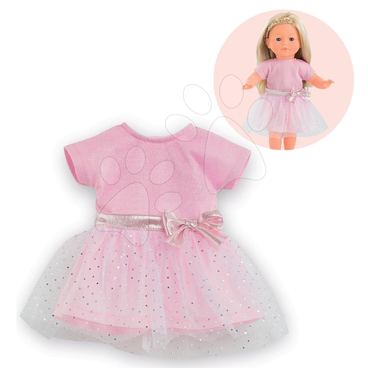 Oblečenie Sparkling Dress Pink Ma Corolle pre 36 cm bábiku od 4 rokov