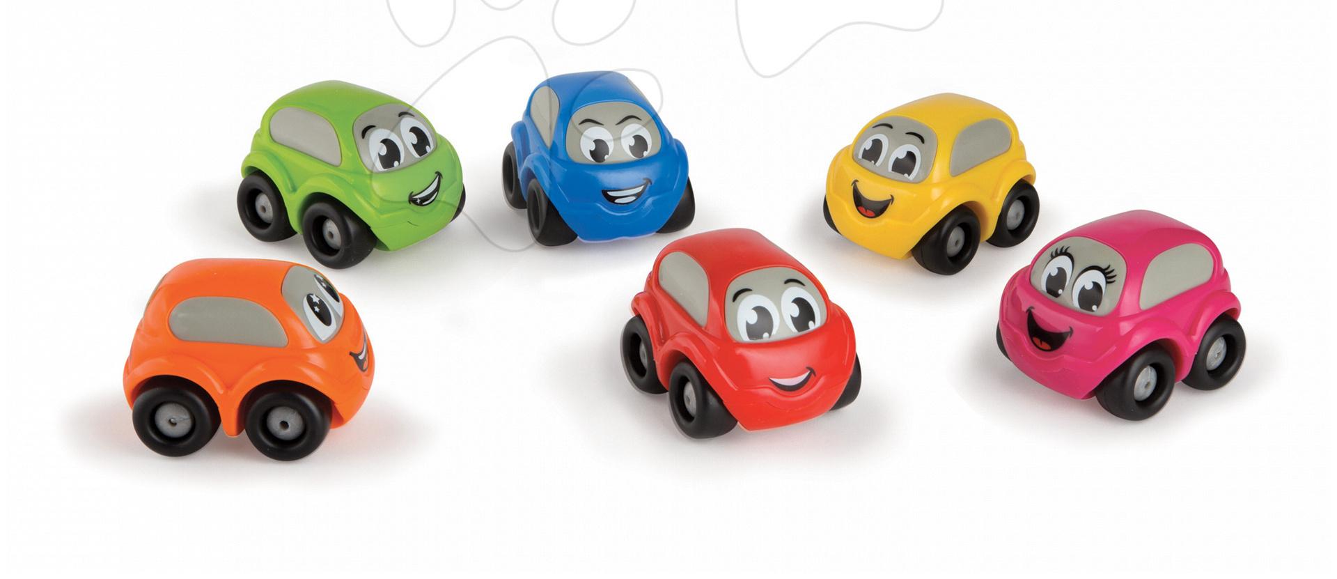 Smoby dětské autíčko Vroom Planet bez obalu 211254 červené/modré/zelené/žluté/oranžové/růžové
