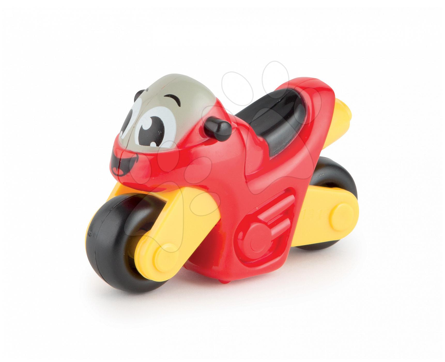 Hračkářská motorka Vroom Planet Smoby délka 8 cm červená od 12 měsíců