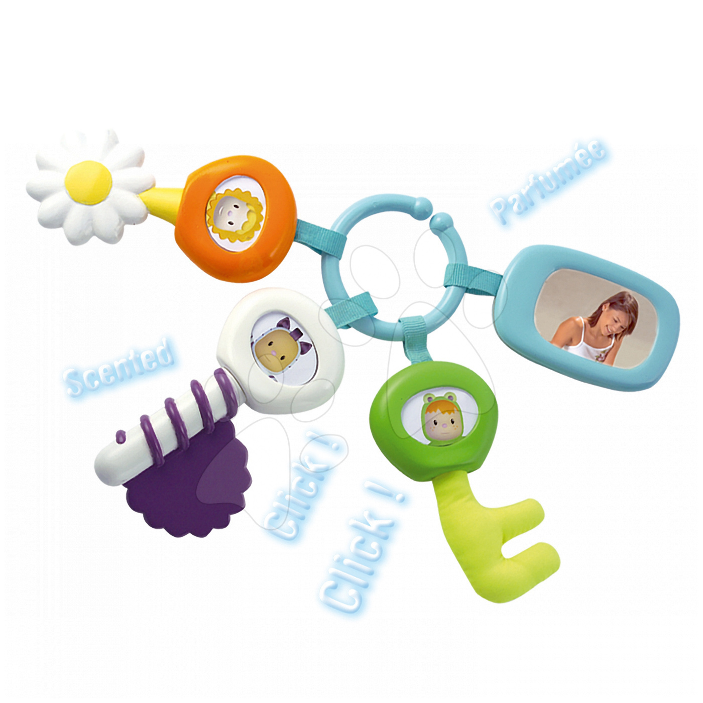 Dezvoltarea abilităților motorii - Chei pentru dentiţie Cotoons Aktivity Smoby pentru bebeluşi