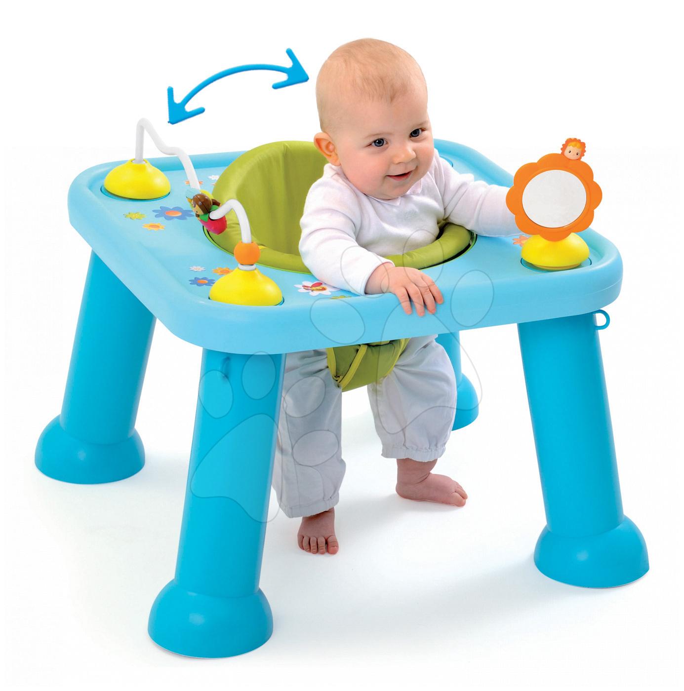 Interaktivní hudební stoly - Stolek Cotoons Youp Smoby s hračkami modrý od 6 měsíců