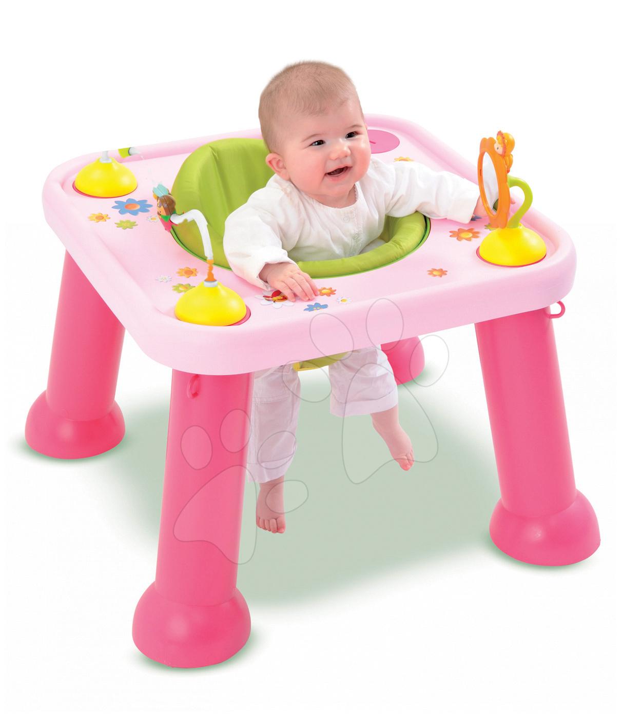 Interaktívne hudobné stoly - Stolík Cotoons Youpi Smoby s hračkami ružový od 6 mes