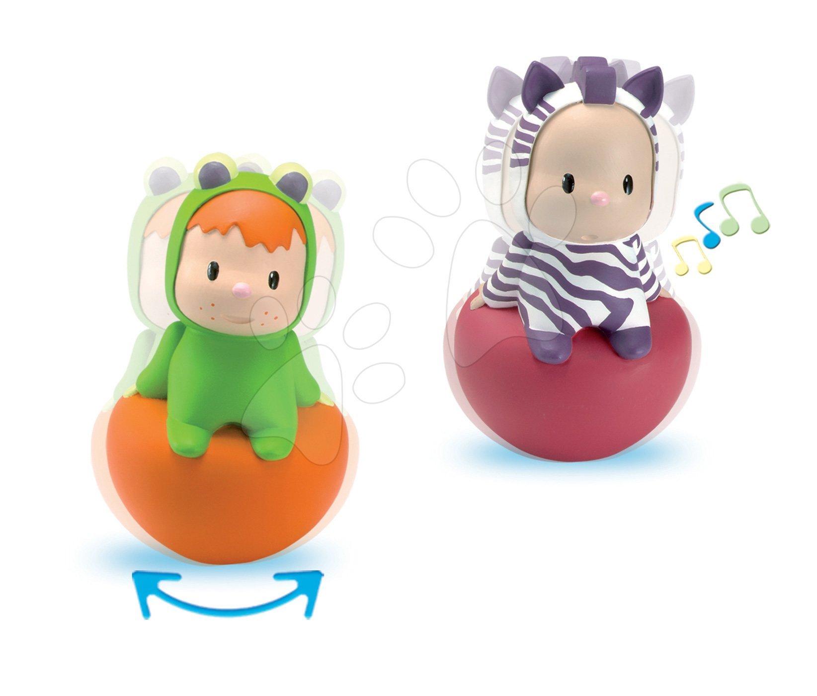 Figurka Cotoons Rolly Polys Smoby pro kojence žabka Wabap/zebra Punky od 6 měsíců