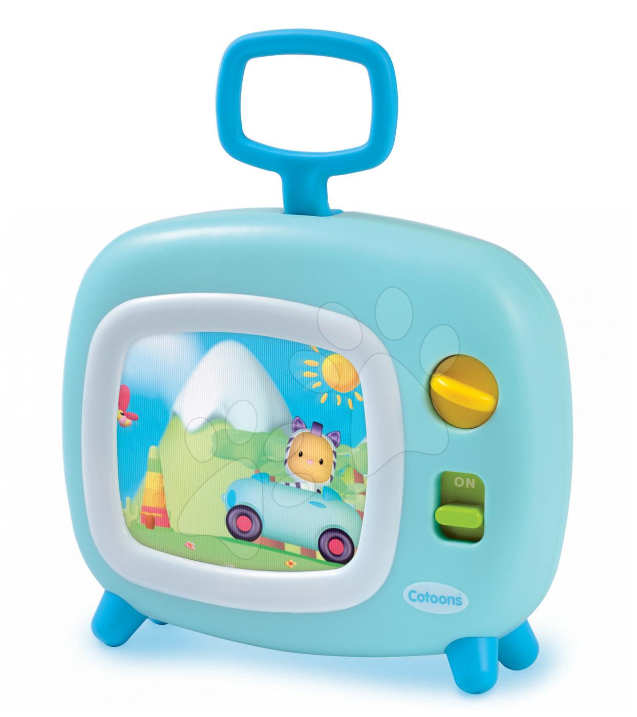 Televizor Cotoons Smoby s hudbou pro kojence světle modrý