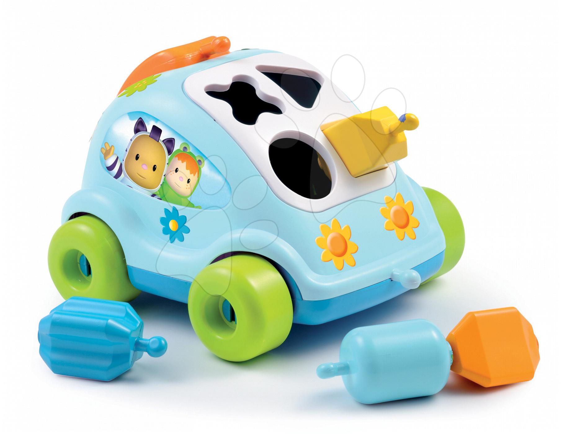 Auto brouček Cotoons Smoby s kostkami modré od 12 měsíců