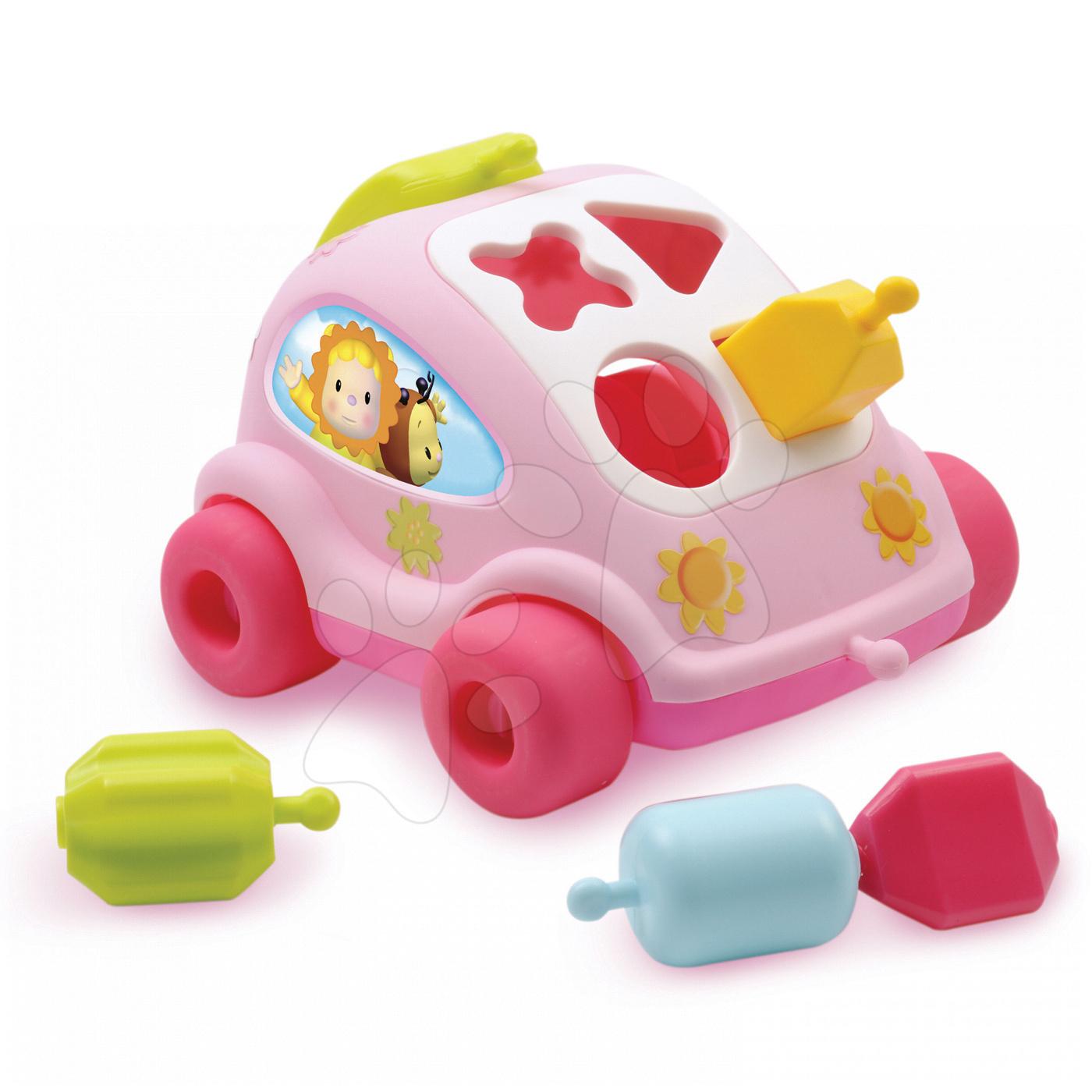 Auto brouček Cotoons Smoby s kostkami růžové od 12 měsíců