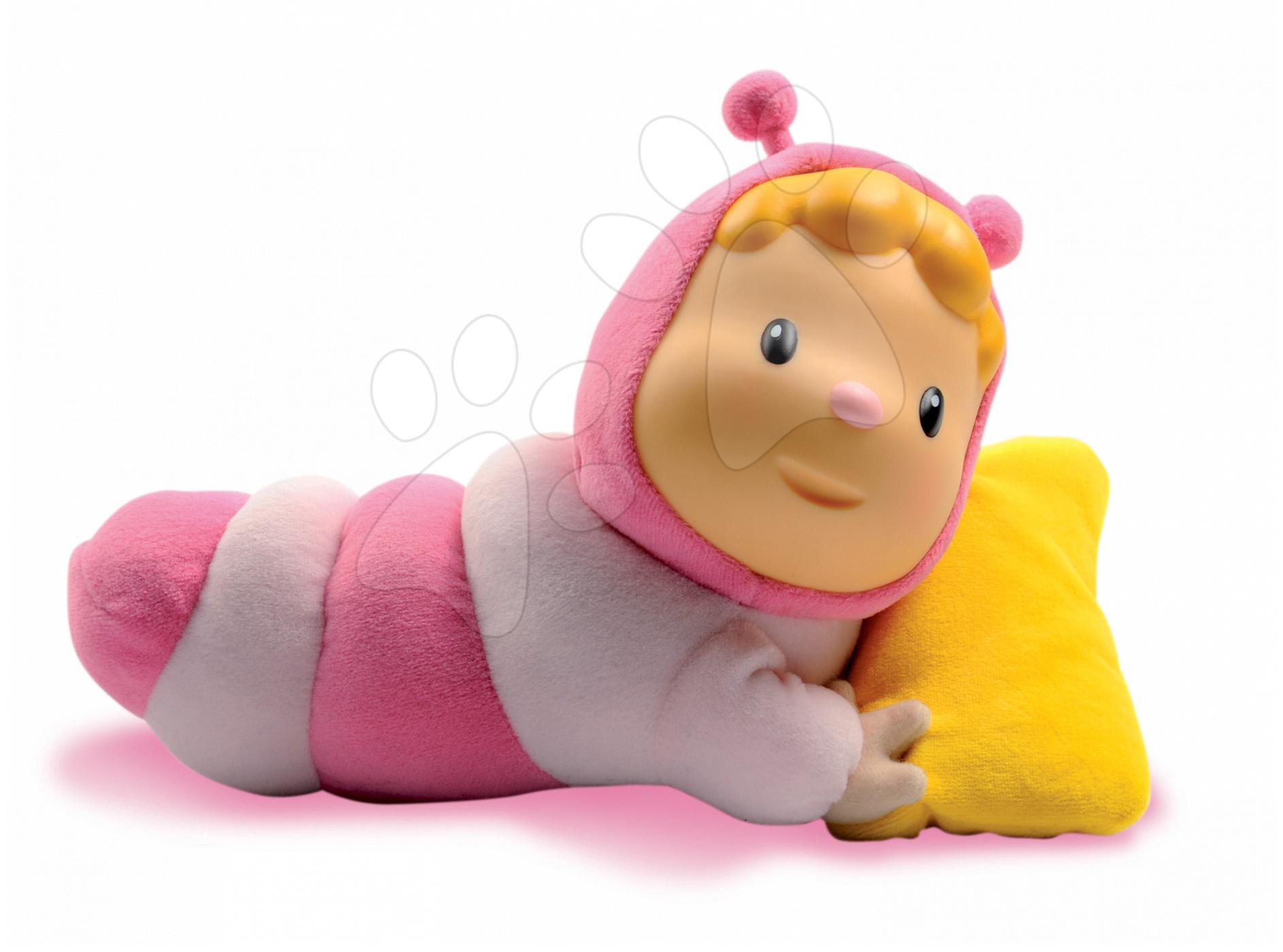 Hračky nad postieľku - Svietiaca bábika Chowing Cotoons Smoby s vankúšom pre kojencov ružová