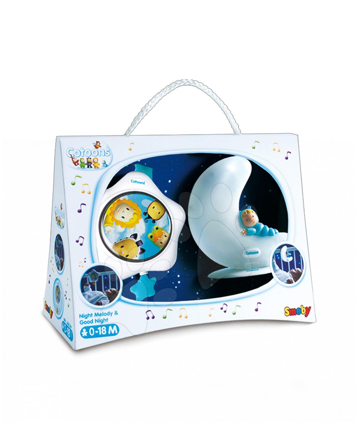Svítící měsíček a hvězdička Cotoons Smoby pro nejmenší modrý