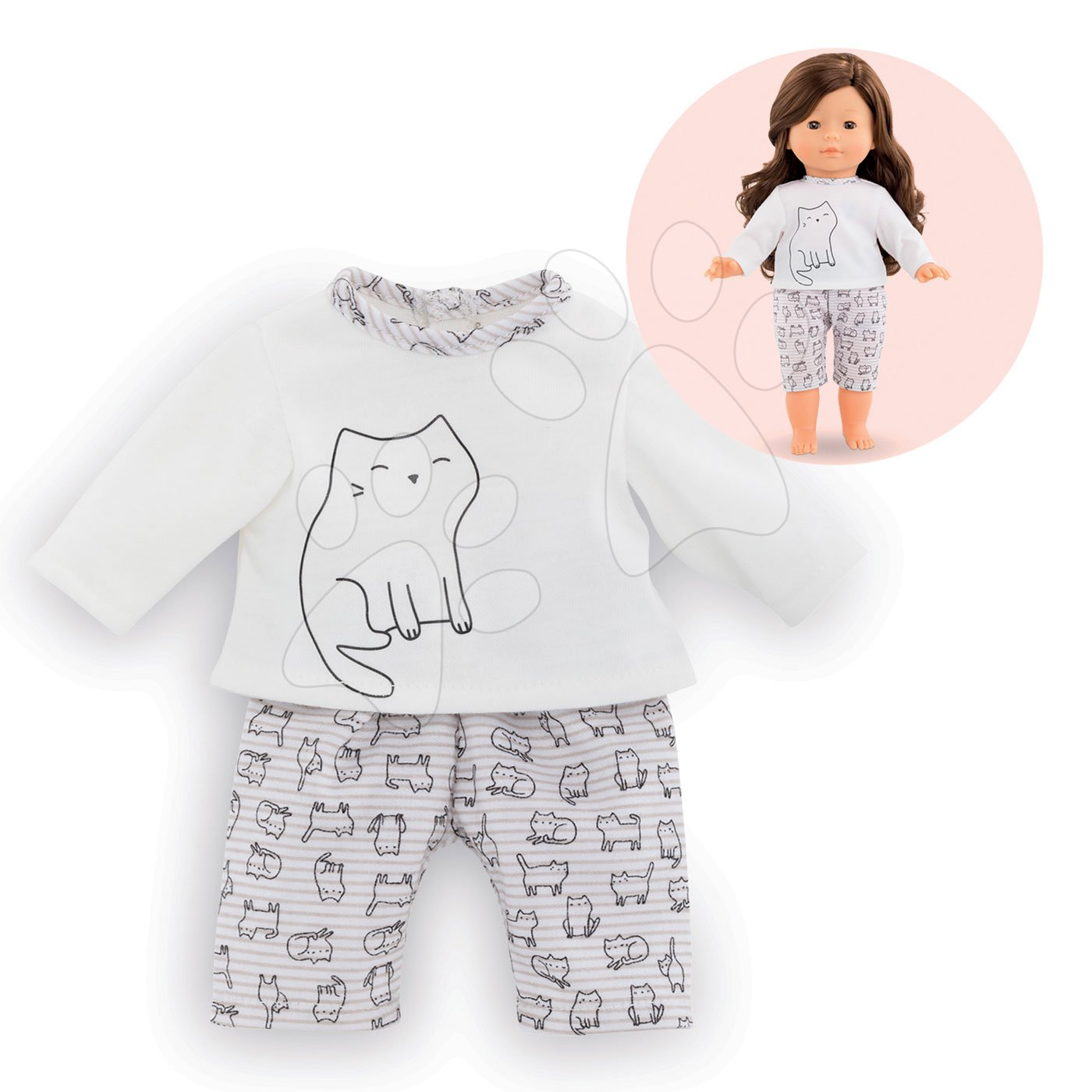 Oblečenie 2-dielne pyžamo Cats Ma Corolle pre 36 cm bábiku od 4 rokov