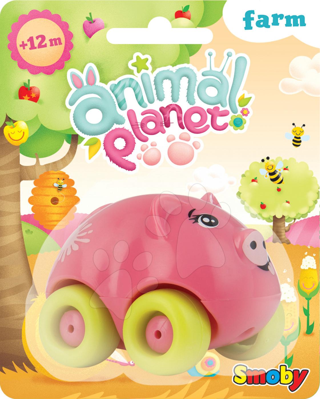 Autíčka - Autíčko - prasiatko Animal Planet Smoby 7 cm od 12 mes