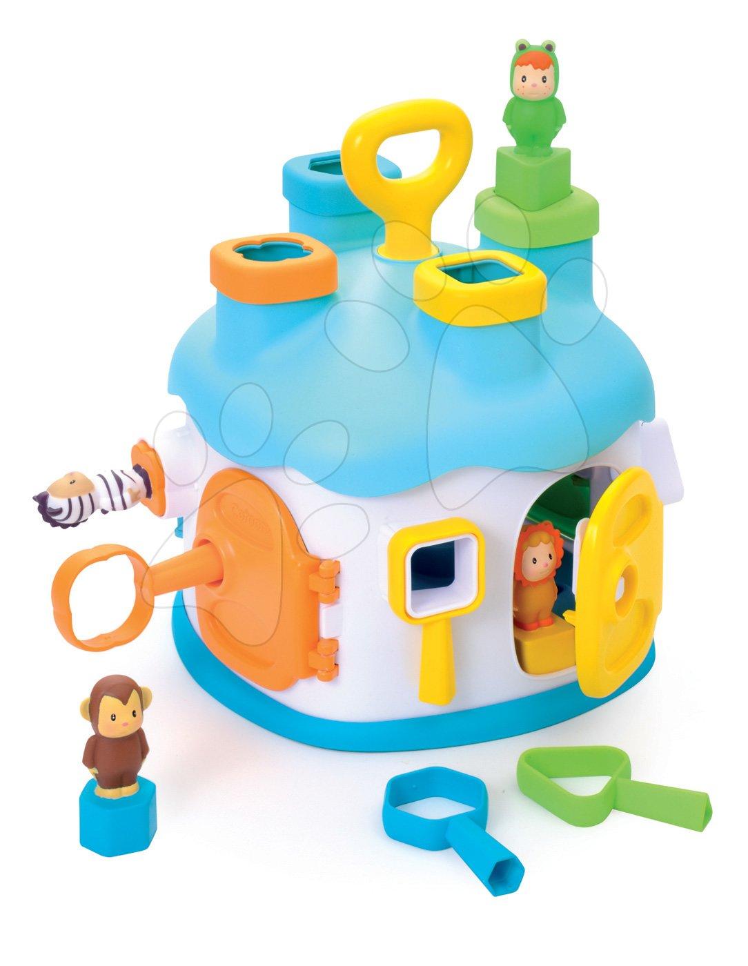 Smoby vkladací domček pre detiCootons s kľúčmi a figúrkami modrý