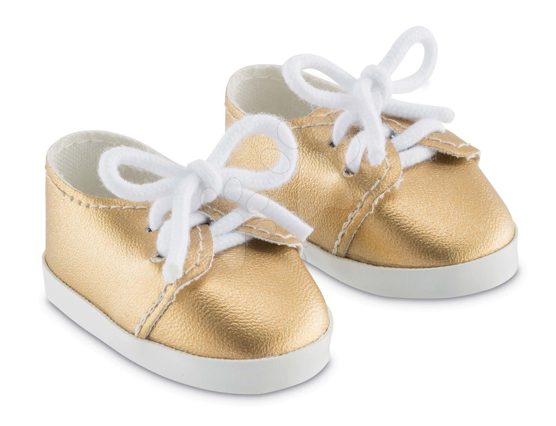 Topánky zlaté tenisky Shoes Golden Corolle pre 36 cm bábiku od 4 rokov