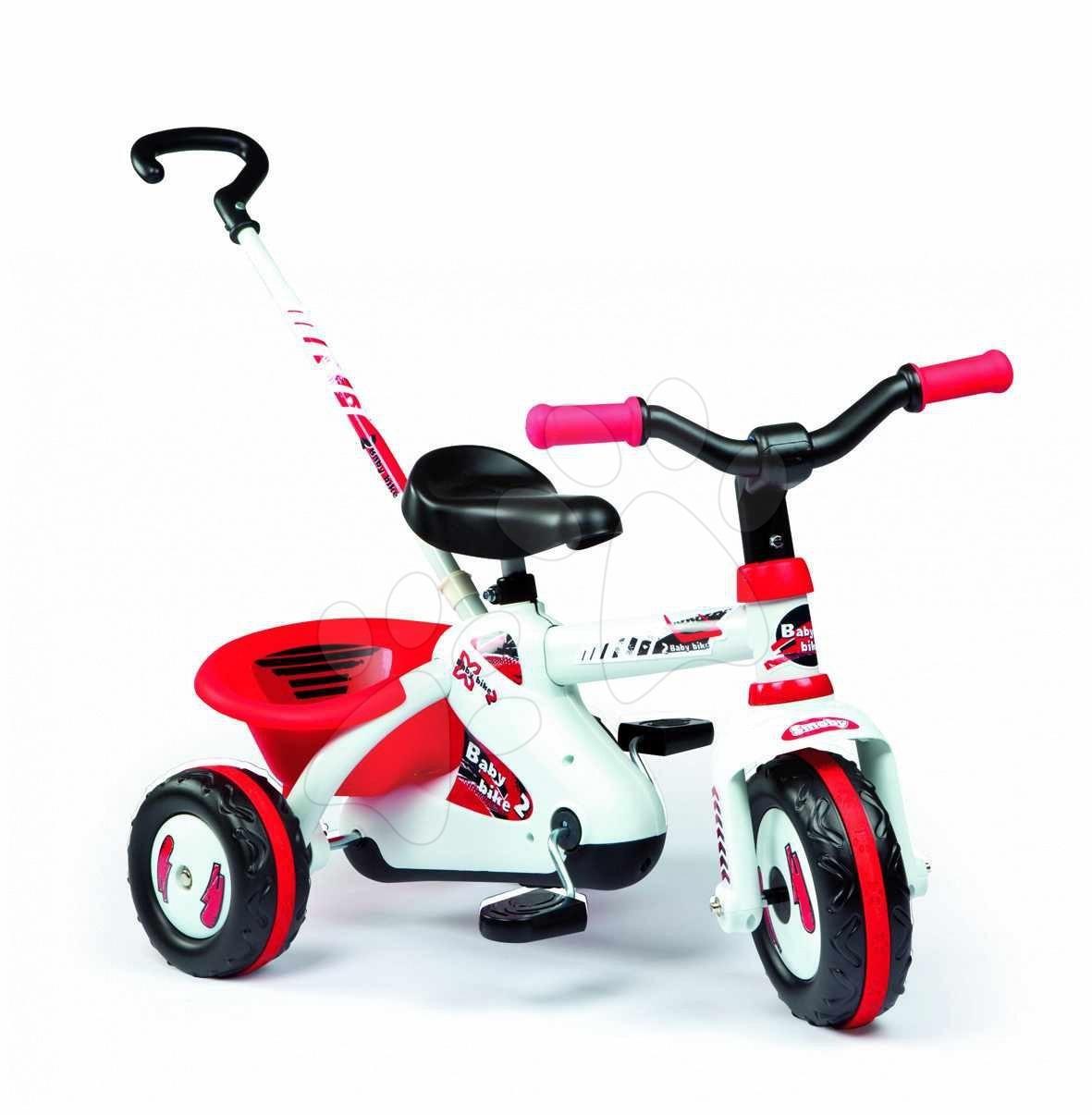 Tricicletă Sport Line Smoby cu antranare cu lanț roșu de la 18 luni
