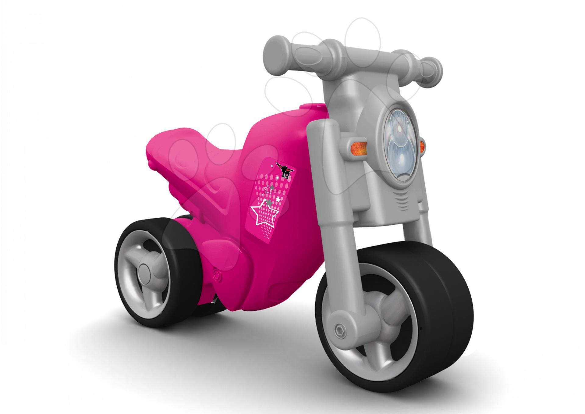 Odrážedlo motorka Girl Bike BIG od 18 měsíců růžovo-šedé