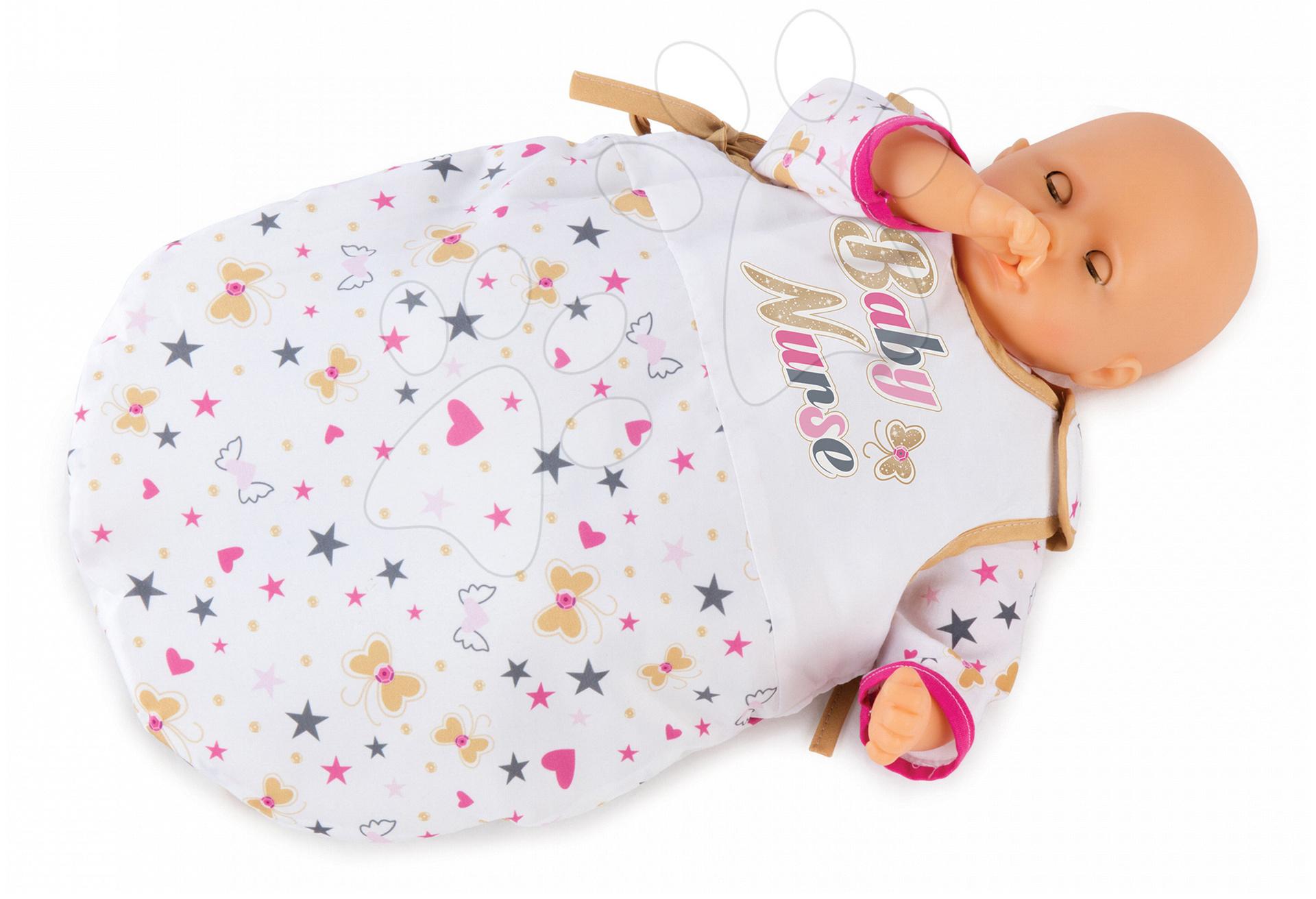 Spací vak pre bábiku 42 cm Baby Nurse Zlatá edícia Smoby od 24 mes