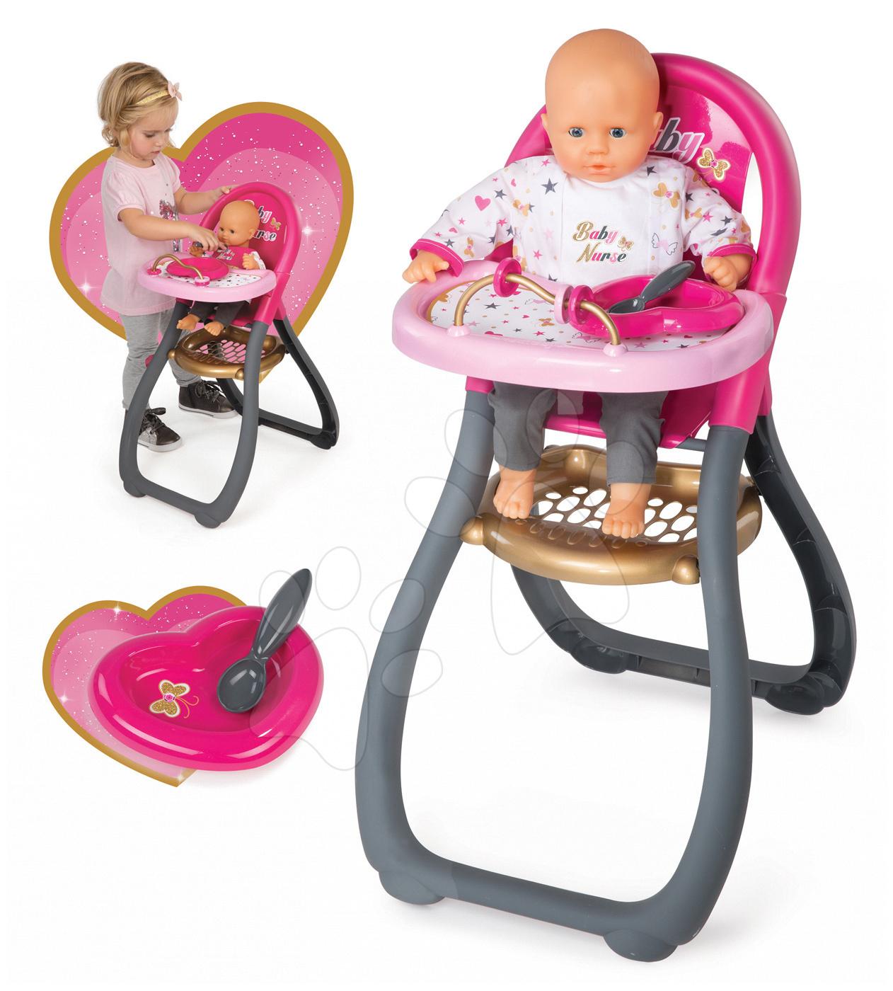 Jídelní židle Baby Nurse Zlatá edice Smoby pro 42 cm panenku od 18 měsíců