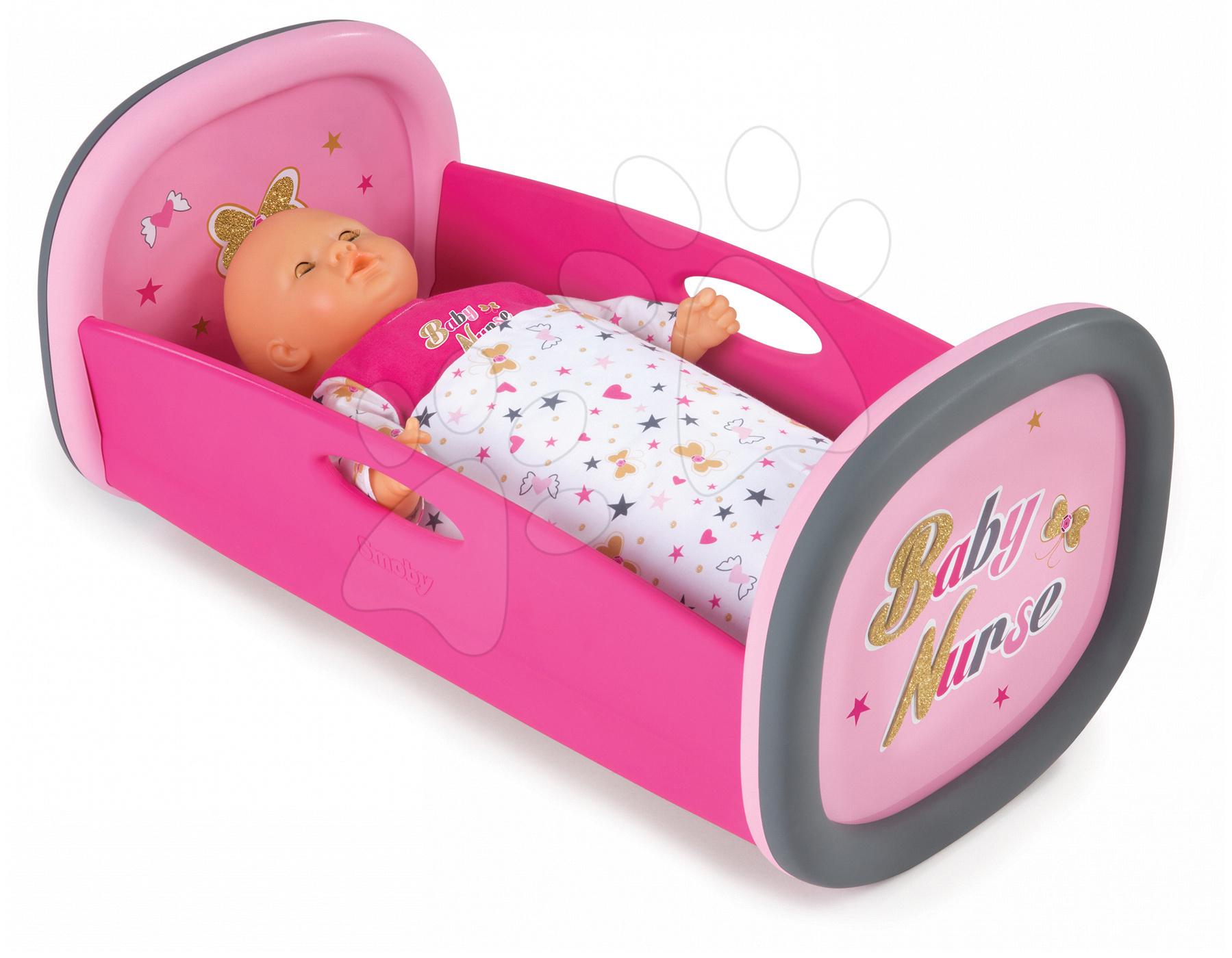 Smoby postieľka pre bábiku s perinkou Baby Nurse 220313 ružová