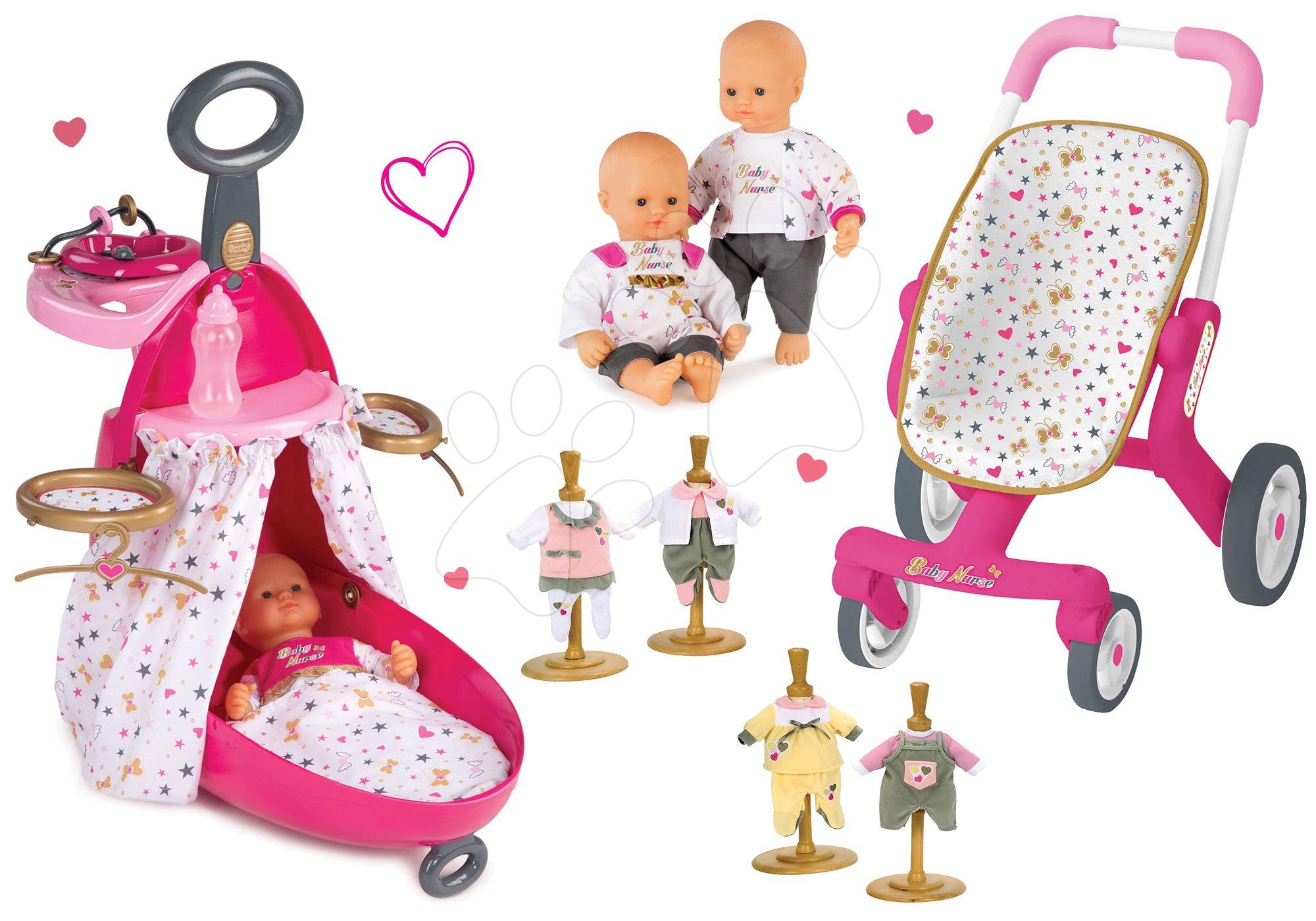 Népszerű Szett babacenter bőrӧnd játékbabának Baby Nurse Smoby játékbaba  ruhácskákkal 32 cm és sport játék babakocsi ( 209f93f8f3