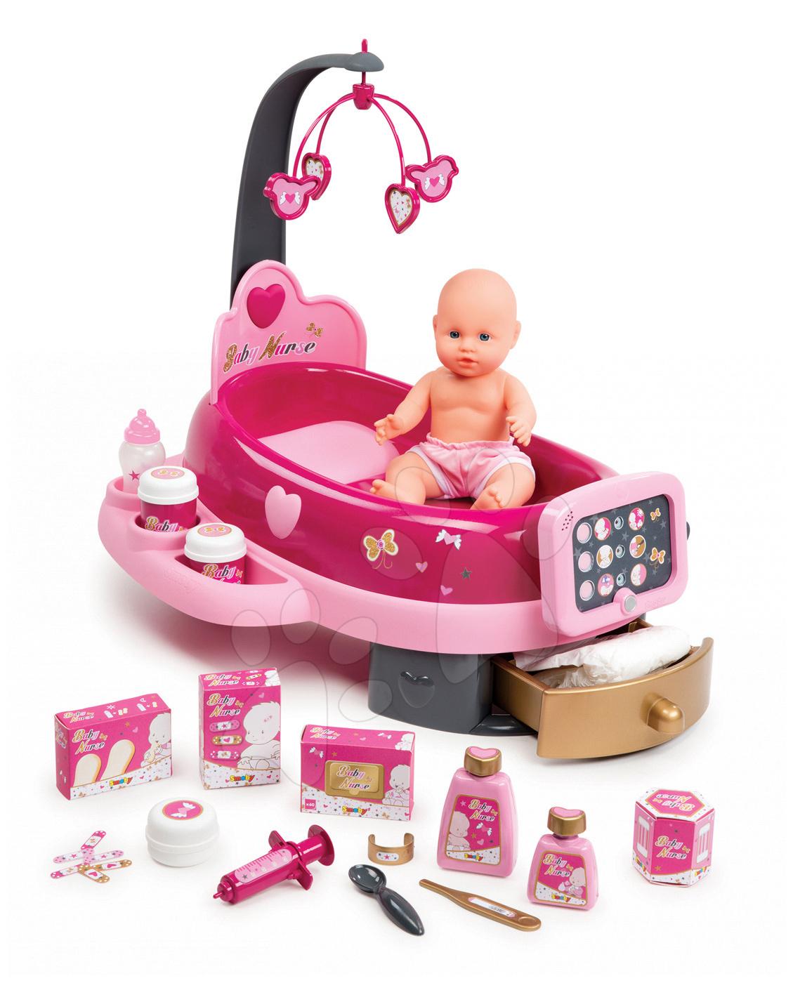 Pečovatelské centrum pro panenky Baby Nurse Zlatá edice Smoby s 32 cm panenkou