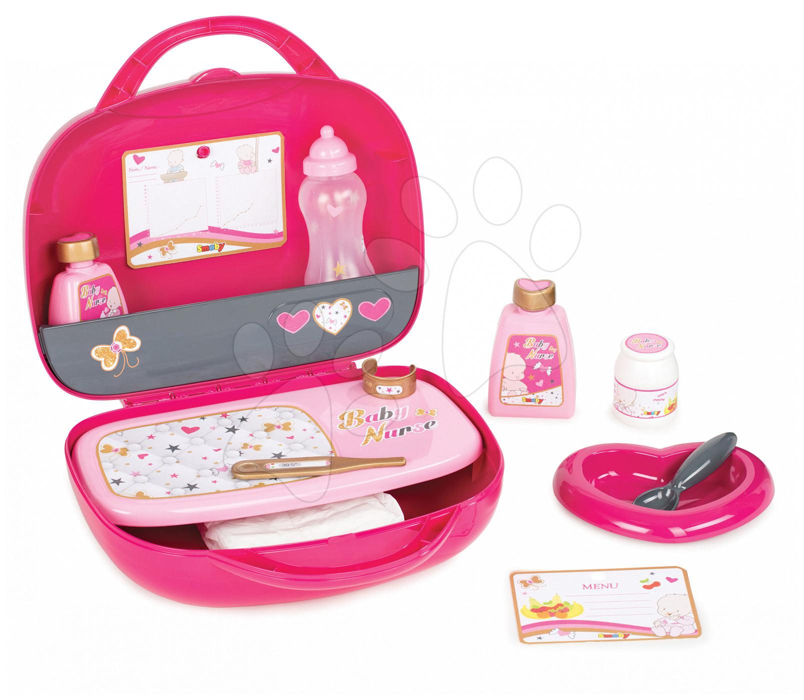 Smoby súprava na prebaľovanie bábiky Baby Nurse 220319 ružová
