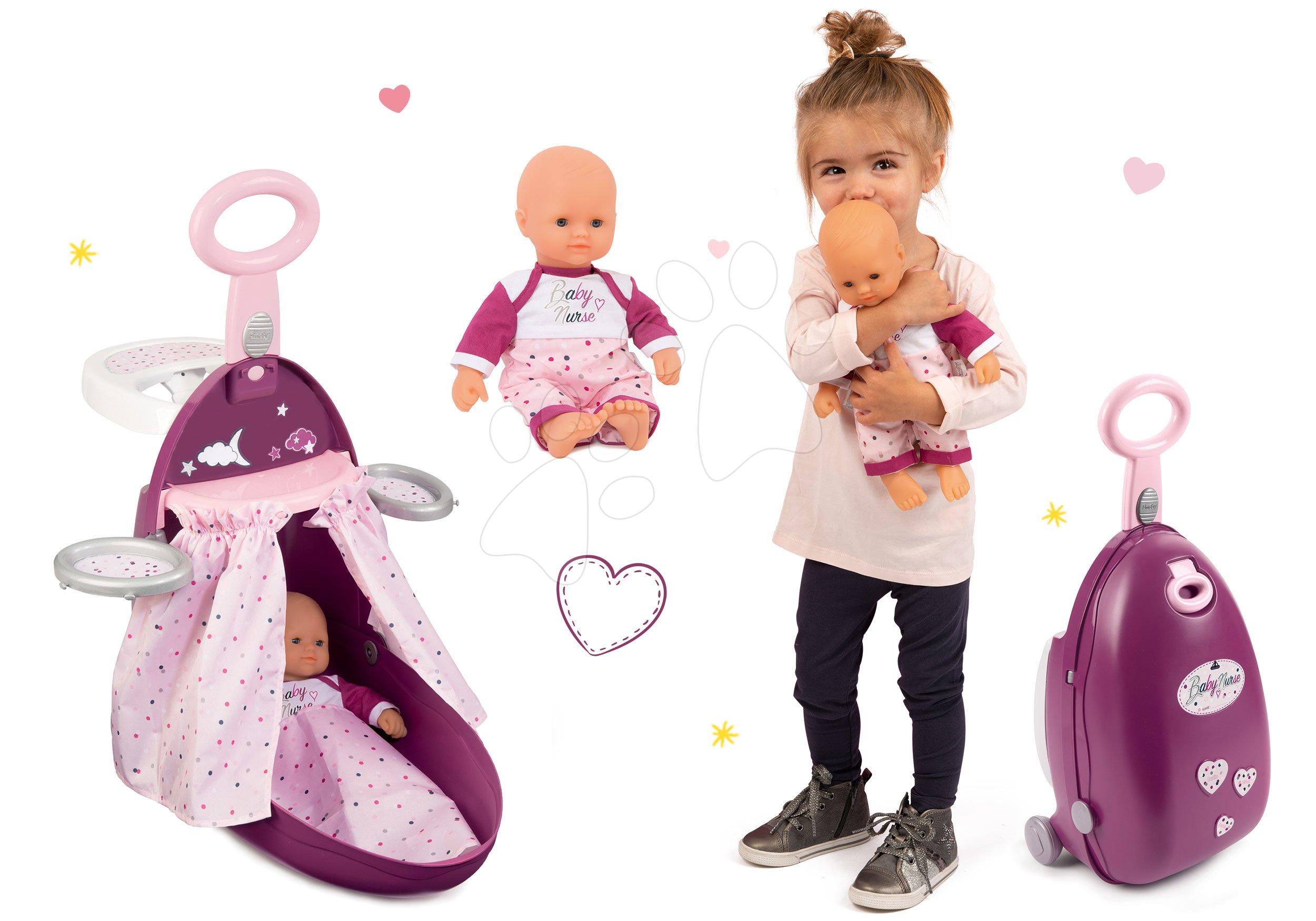 Set přebalovací vozík Baby Nurse Zlatá edice Smoby s postýlkou a panenka 32 cm od 18 měsíců
