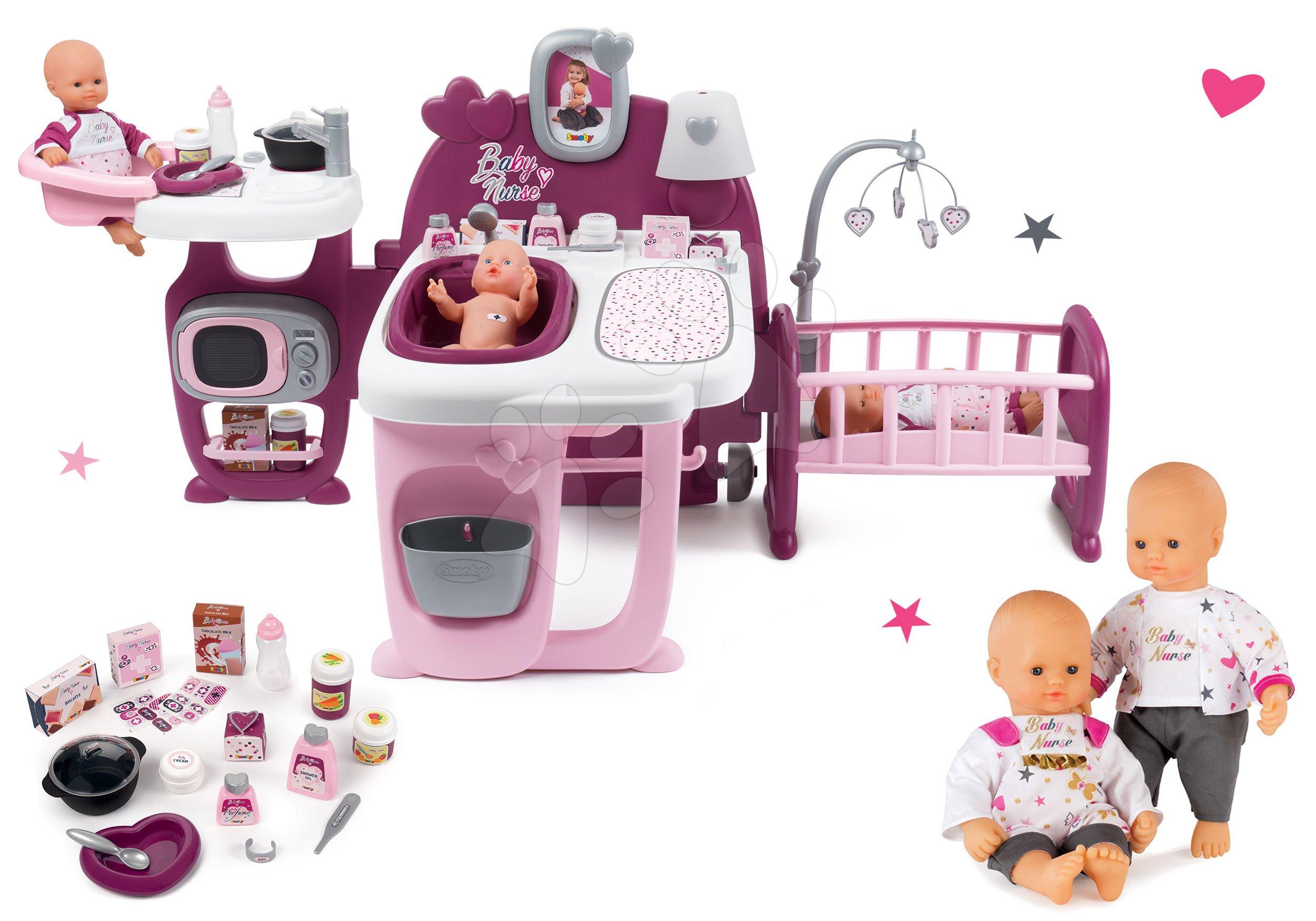 Smoby set domeček pro panenku Baby Nurse Doll´s Play Center a dárek panenka Baby Nurse 220327-5