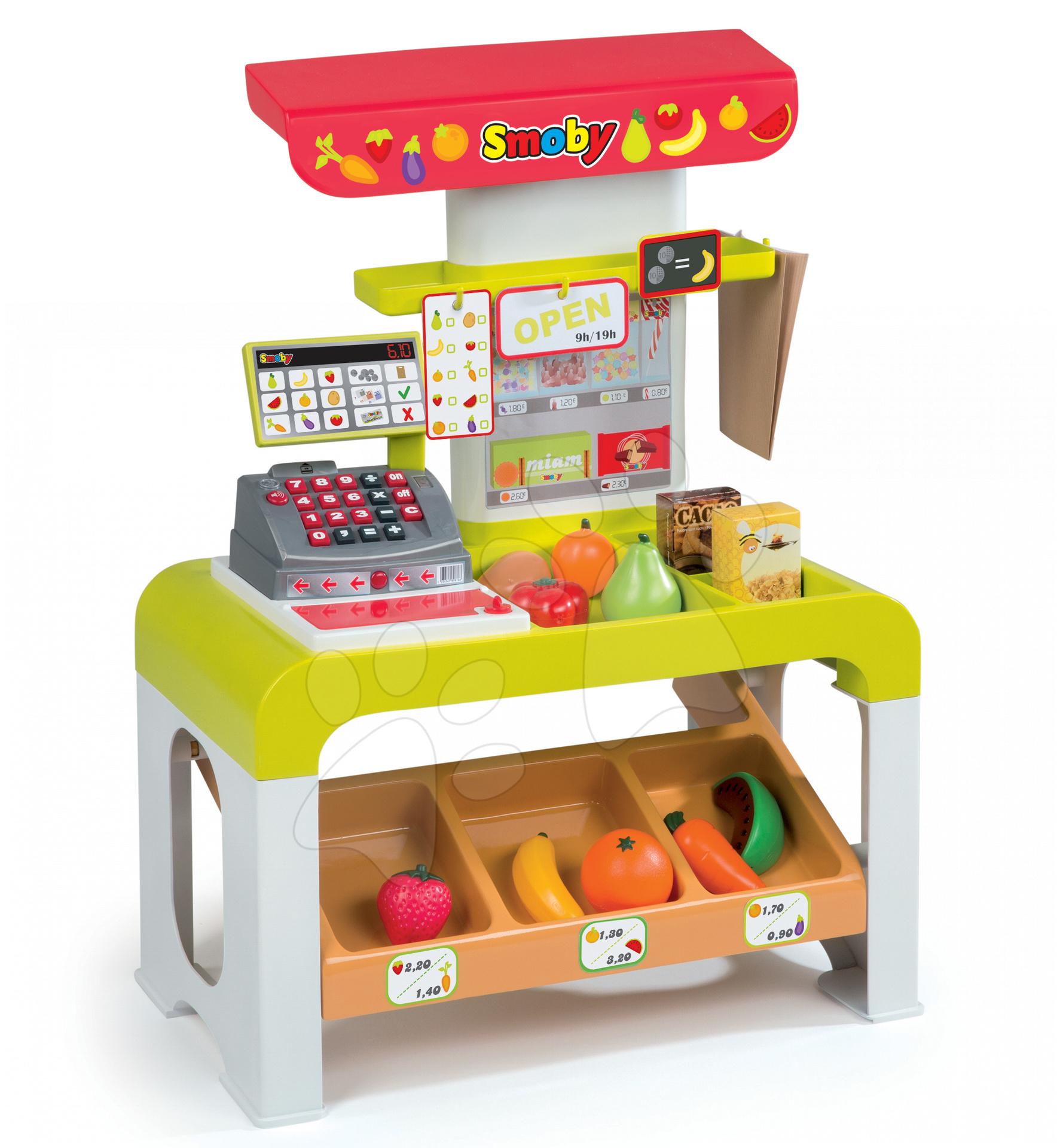 Obchody pre deti - Obchod Store Tronic Smoby s elektronickou pokladňou a 38 doplnkov