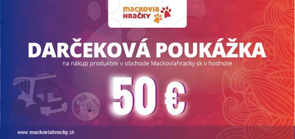 Darčekové kupóny - Darčeková poukážka 50 eur