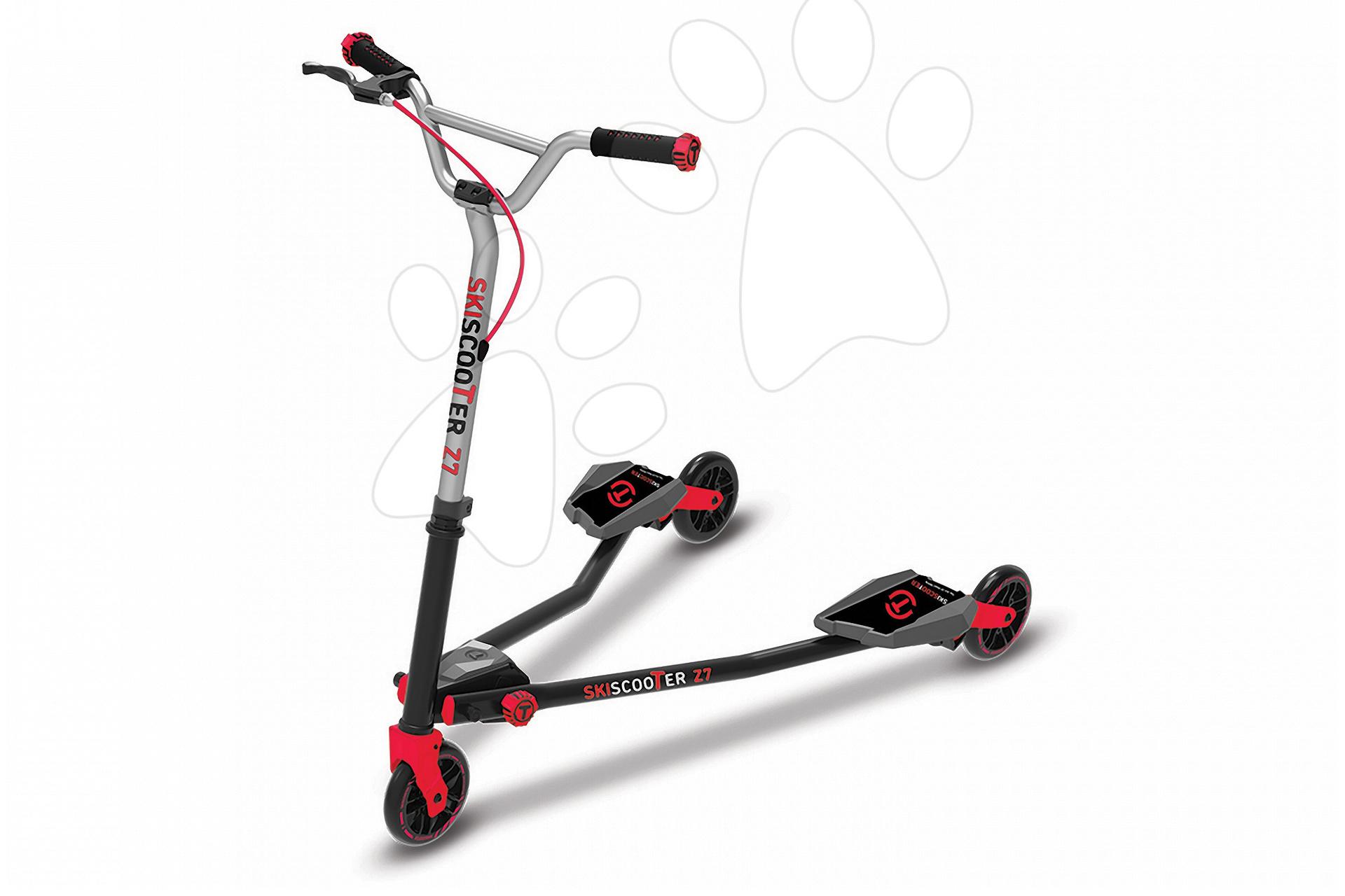 Roller SkiScooter síelés az úttesten smarTrike Z7 Red piros-fekete 7 évtől